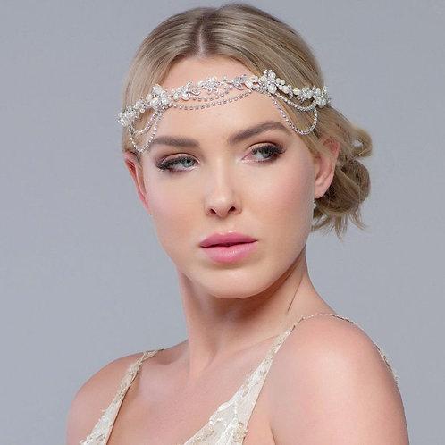 Gatsby Bejewelled Headpiece,  Bridal Hair, Bridal Accessories, Head Piece, Silve