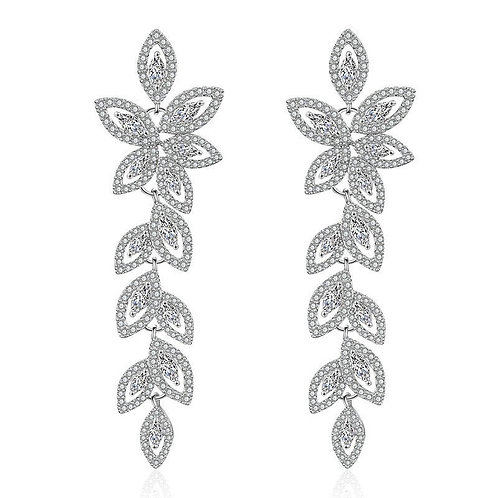 Crystallure Chandelier Earrings, Available in Silver, Bridal Accessories, Bridal