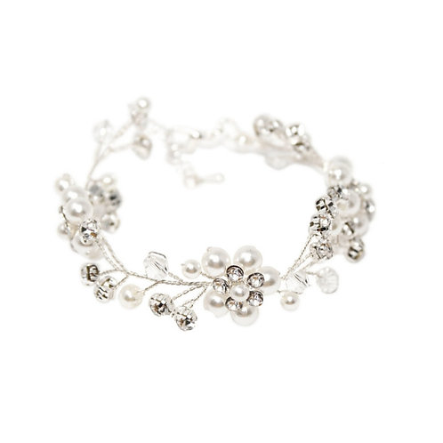 Simply Pearl Bracelet, Available in Silver, Bridal Accessories, Wedding Jeweller