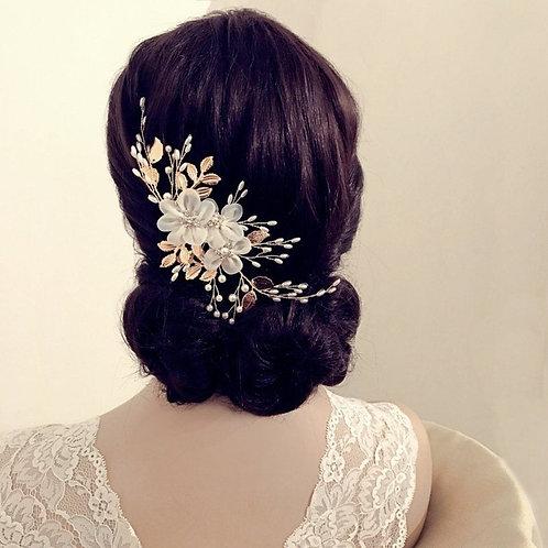 Beautiful Floral Enchantment Headpiece, Bridal Accessories, Bridesmaid Hair, Bri