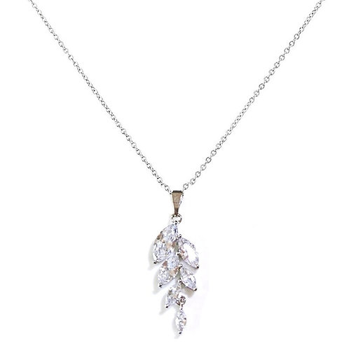 Bella Dainty Drop Crystal Necklace, Available in Silver or Gold,  Wedding Jewell