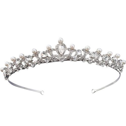 Chic Pearl Tiara, Wedding Tiara, Bridal Accessories, Silver Tiara, Brides, Hair