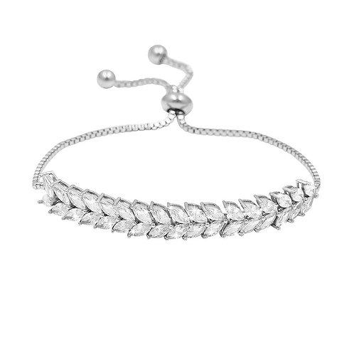 Eternally Crystal Bracelet, Silver or Gold, Bridal Accessories, Wedding Jeweller