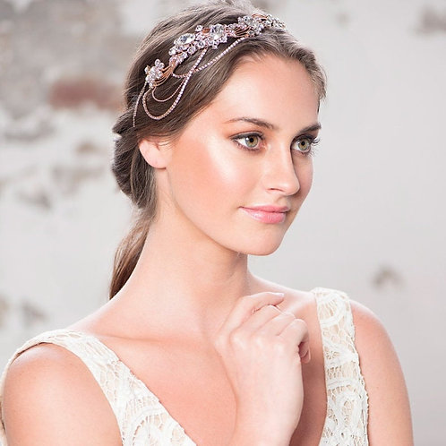 Beautiful Luxury Bejewelled Gatsby Style Headpiece, Bridal Accessories, Bridesma