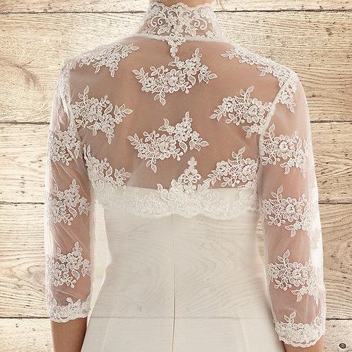 Beautiful Lace Bolero - Wedding Dress Cover Up Accessories,  Ivory Lace Shrug