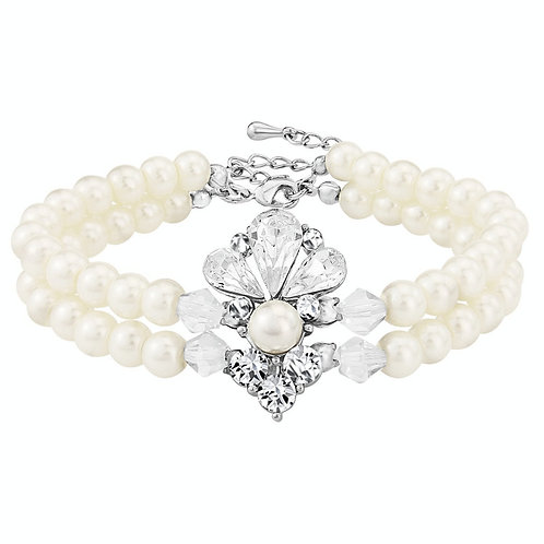Exquisite Starlet Pearl Bracelet, Available in Silver, Bridal Accessories, Weddi