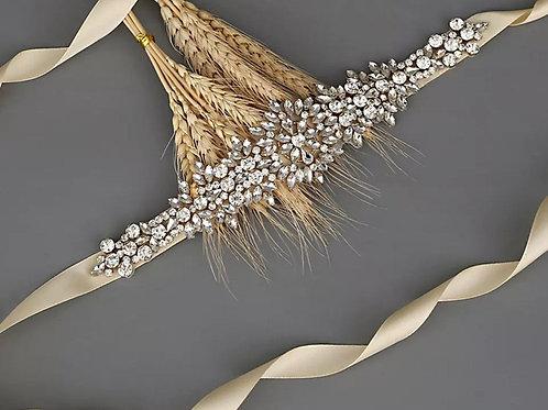 Crystal Bridal Belt, Wedding Dress Belt, Bridal Accessories, Gold, Silver, Rose