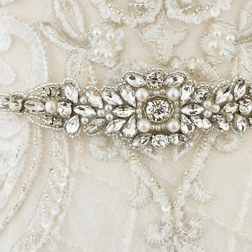 Beautiful Bridal Belt, Vintage Pearl Belt Wedding Dress Belt,