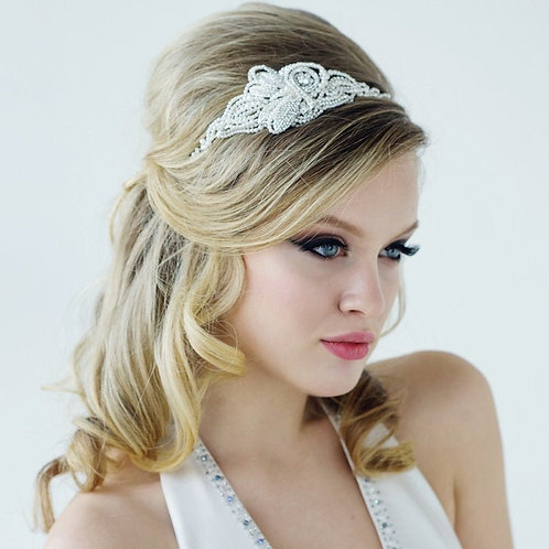 Mabel Luxe Pearl Headband, Pearls, Crystal , Bridal Accessories, Bridesmaid Hair
