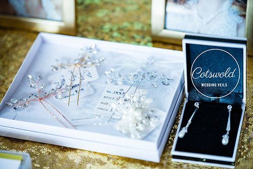 Beautiful Eternally Pearl Hair Pin, Crystal Wedding Hair Accessories, Bridal Acc