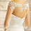 Thumbnail: Beautiful Stretch Lace Bolero - Ivory Lace, Nude Tulle