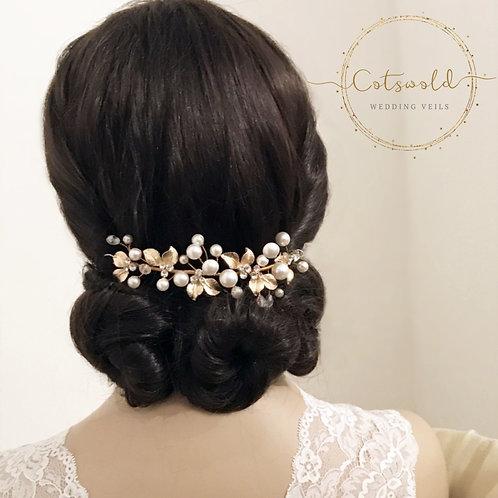 Beautiful Mini Luxe Hair Vine,  Crystal, Pearl Hair Vine, Wedding Hair Accessori