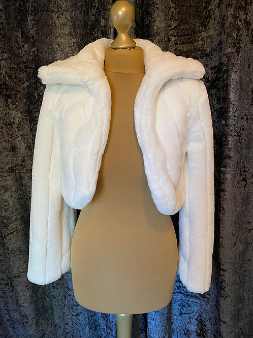 Stunning Faux Fur Jacket, Fur Bolero,  Wedding Shrug