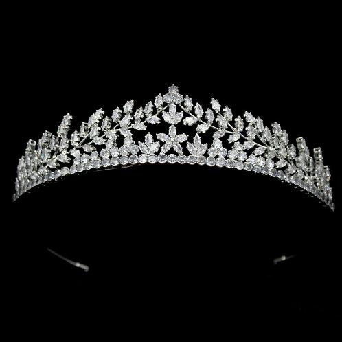 Crystal Divine Bridal Tiara, Wedding Tiara, Bridal Accessories, Silver Tiara, Br