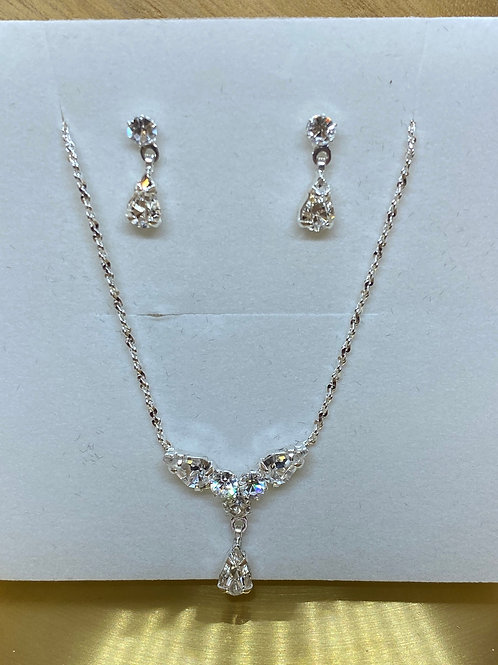 Shimmer Bridal Necklace Set, Earrings & Necklace Set, Wedding Jewellery, Bridal,