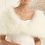 Thumbnail: Marabou Feather Cape, Wedding Bolero, White or Ivory