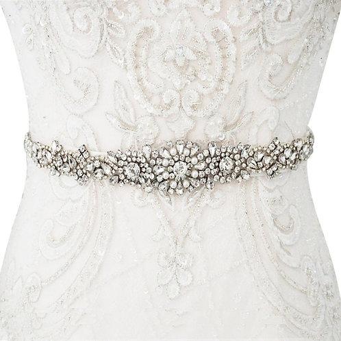 Beautiful Bridal Belt, Luxe Crystal & Pearl Belt, Wedding Dress Belt