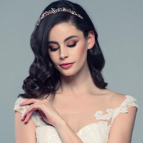 Dainty Crystal & Pearl Bridal Tiara, Wedding Tiara, Bridal Accessories, Silver o