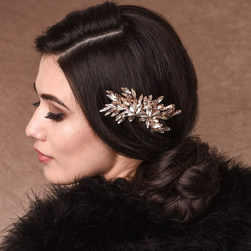 Sparkle Hair Comb, Silver or Gold, Crystal Bridal Comb