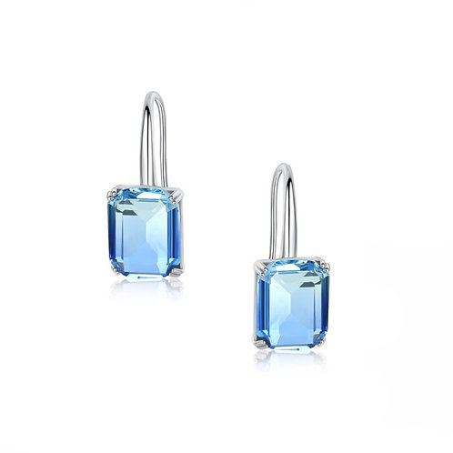 Blue Starlet Earrings, Available in Silver & Blue, Bridal Accessories, Bridal Je