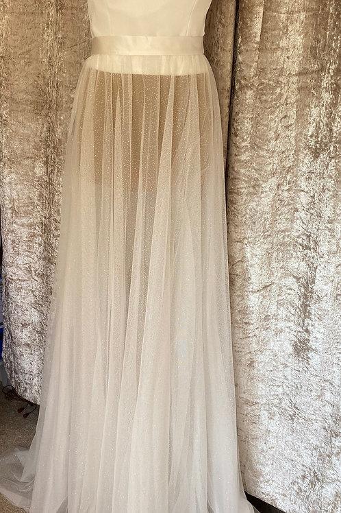 Beautiful Bridal Skirt, High Quality Glitter & Sequin Wedding Dress Skirt, Satin