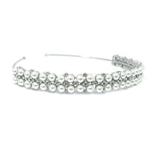 Pearl Cluster Headband, Pearl Head band, Bridal Accessories, Bridal Headband, Si
