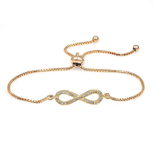 Crystal Infinity Bracelet, Available in Silver, Gold or Rose Gold, Bridal Access