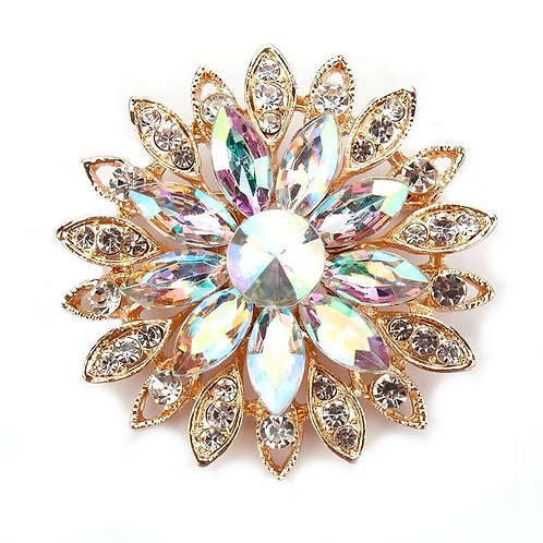 Vintage Glam Brooch, Crystal Dress Brooch, Available in Gold, Bridal Accessories