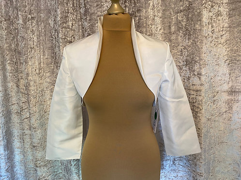 Beautiful Taffeta Bolero - Ivory, Black or White