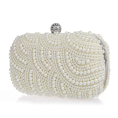 Beautiful Classic Vintage Pearl Clutch Bag, Bridal Bag