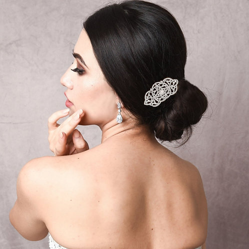 Vintage Crystal Treasure Hair Comb, Available in Silver