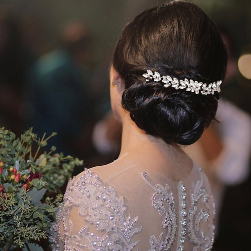 Crystal Glam Hair Comb, Available in Silver or Gold, Bridal Accessories, Bridal