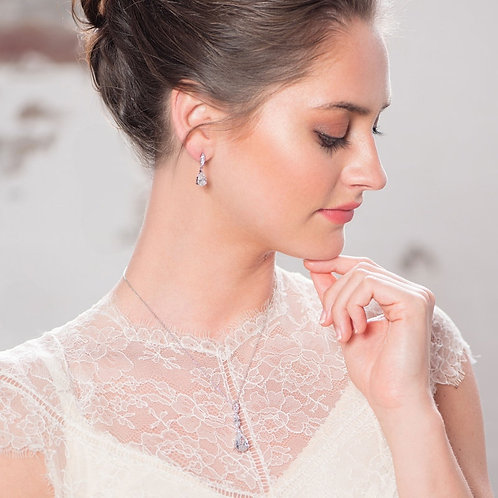 Classic Sparkle Earrings, Available in Gold,  Silver or Rose Gold, Bridal Jewell