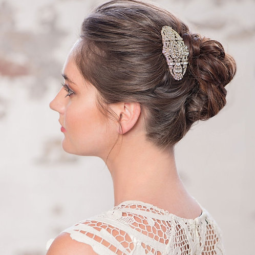 Gatsby Vintage Style Crystal Bridal Hair Comb, Rose Gold or Silver, Bridal Acces