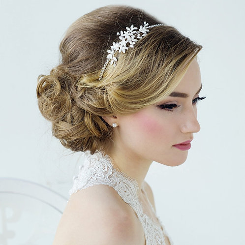 Harmony Chic Pearl Headband, Pearls, Crystal , Bridal Accessories, Bridesmaid Ha