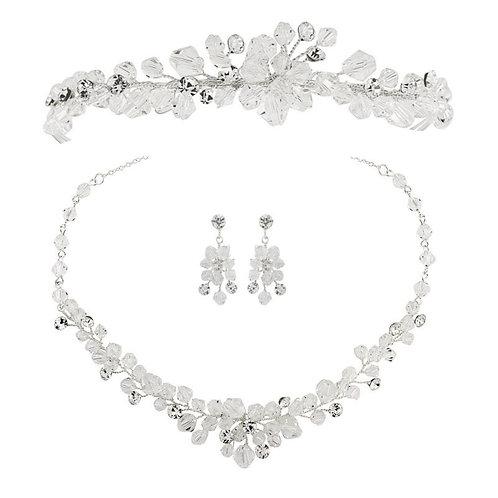 Crystal Clear Bridal Tiara & Jewellery Set, Wedding Tiara, Bridal Accessories, S
