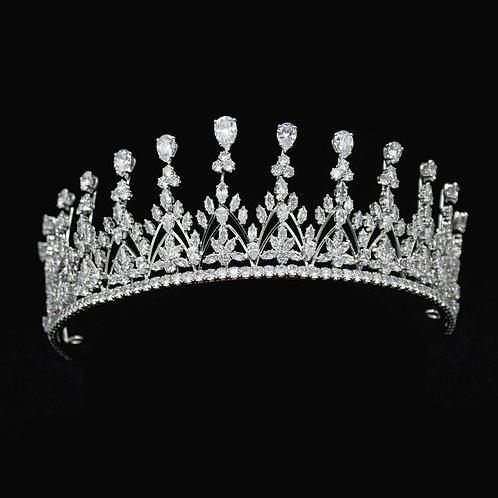 Crystal Radiance Bridal Tiara, Wedding Tiara, Bridal Accessories, Silver Tiara,