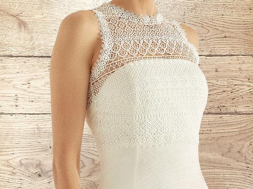Boho Lace Bolero - Wedding Dress Cover Up Accessories,  Ivory Keyhole Back Lace