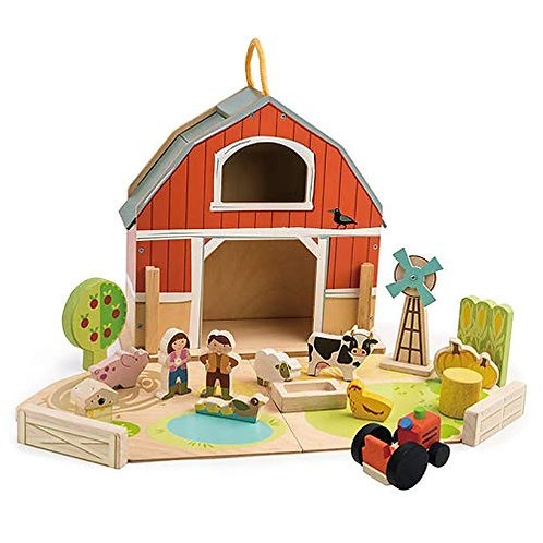 Tender Leaf Little Barn Set