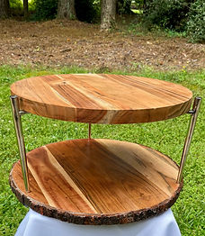 Two-tier Rustic Wedding Cake Stand