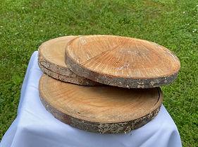 """8""""-10"""" Wood Slice"""