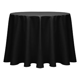 Black Round Tablecloths