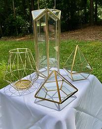 Geometric centerpiece candle/flower holder