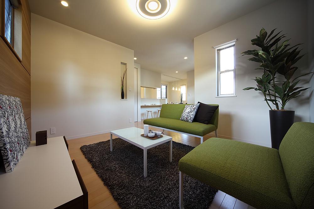 不動産 モデルハウス リビング 2 | interior coordination