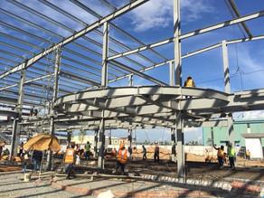 カンボジア プノンペン | 工場 生産施設 建設工事の鉄骨棟上げ | 建設プロジェクトマネジメント(PM)・建築設計・工事監理 | COCOCHI DESIGNS ココチデザイン