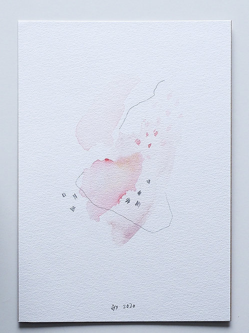 """Abstract Watercolour 004 (5.8""""x 8.3"""")"""