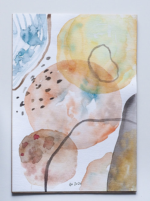 """Abstract Watercolour 028 (5.8"""" x 8.3"""")"""