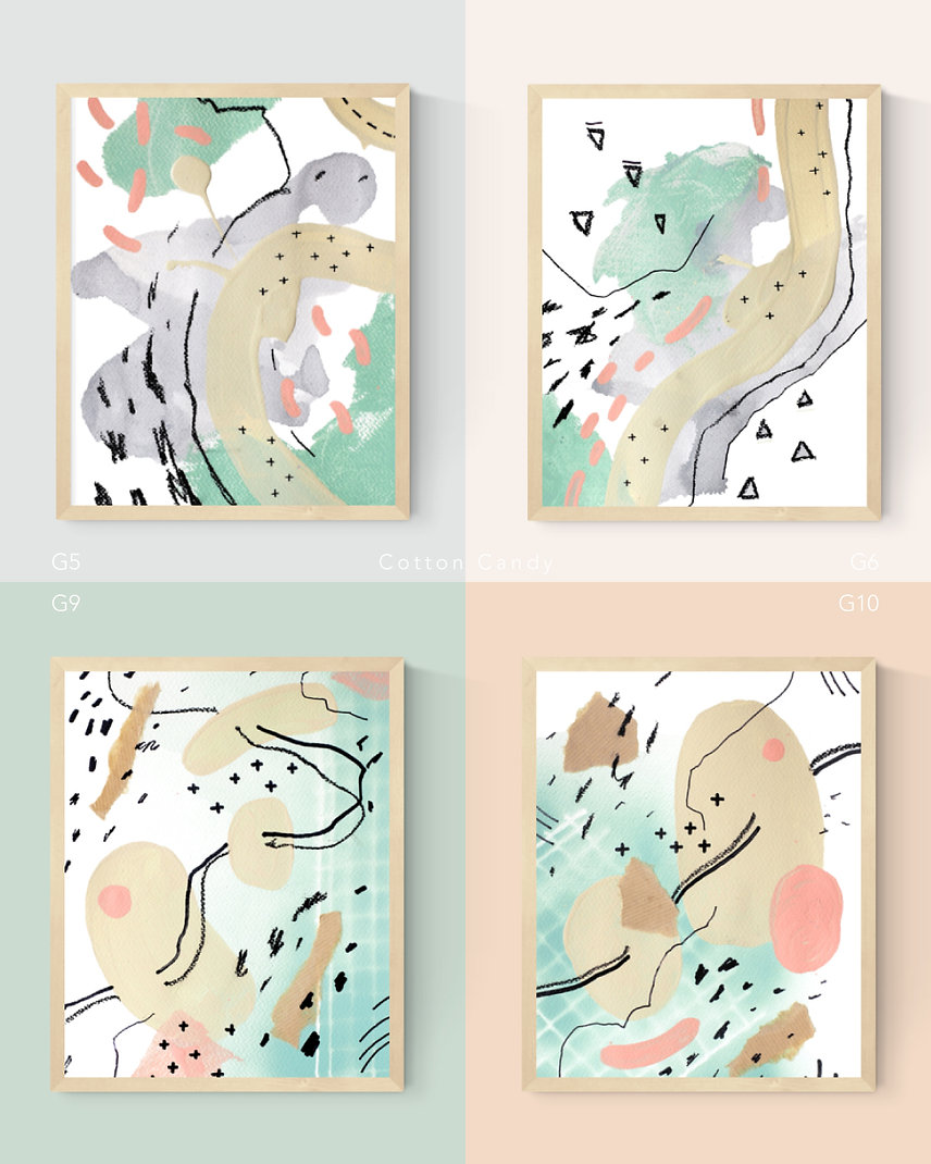 Cotton-Candy Abstract Painting Art Print For Home Spaces | September Khu