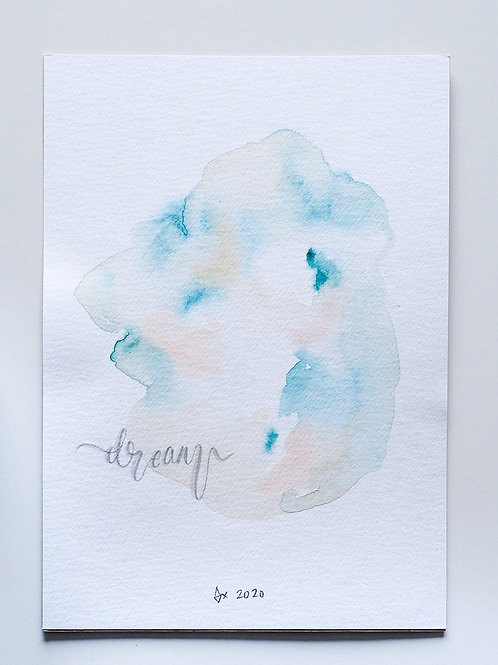 """Abstract Watercolour 024 (5.8"""" x 8.3"""")"""