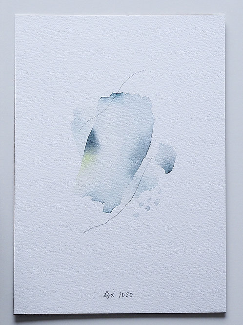 """Abstract Watercolour 006 (5.8""""x 8.3"""")"""